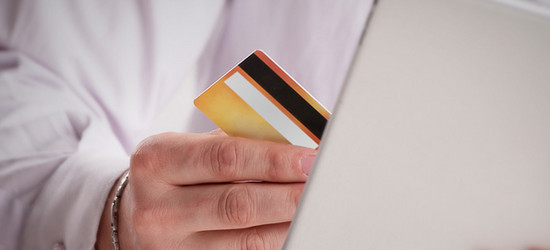 Photograph of card transaction.